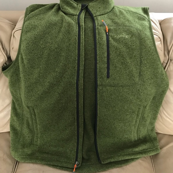 dda769b855ae39 Orvis Sweater Fleece Vest - Green. M 5accba4d00450faad005190f